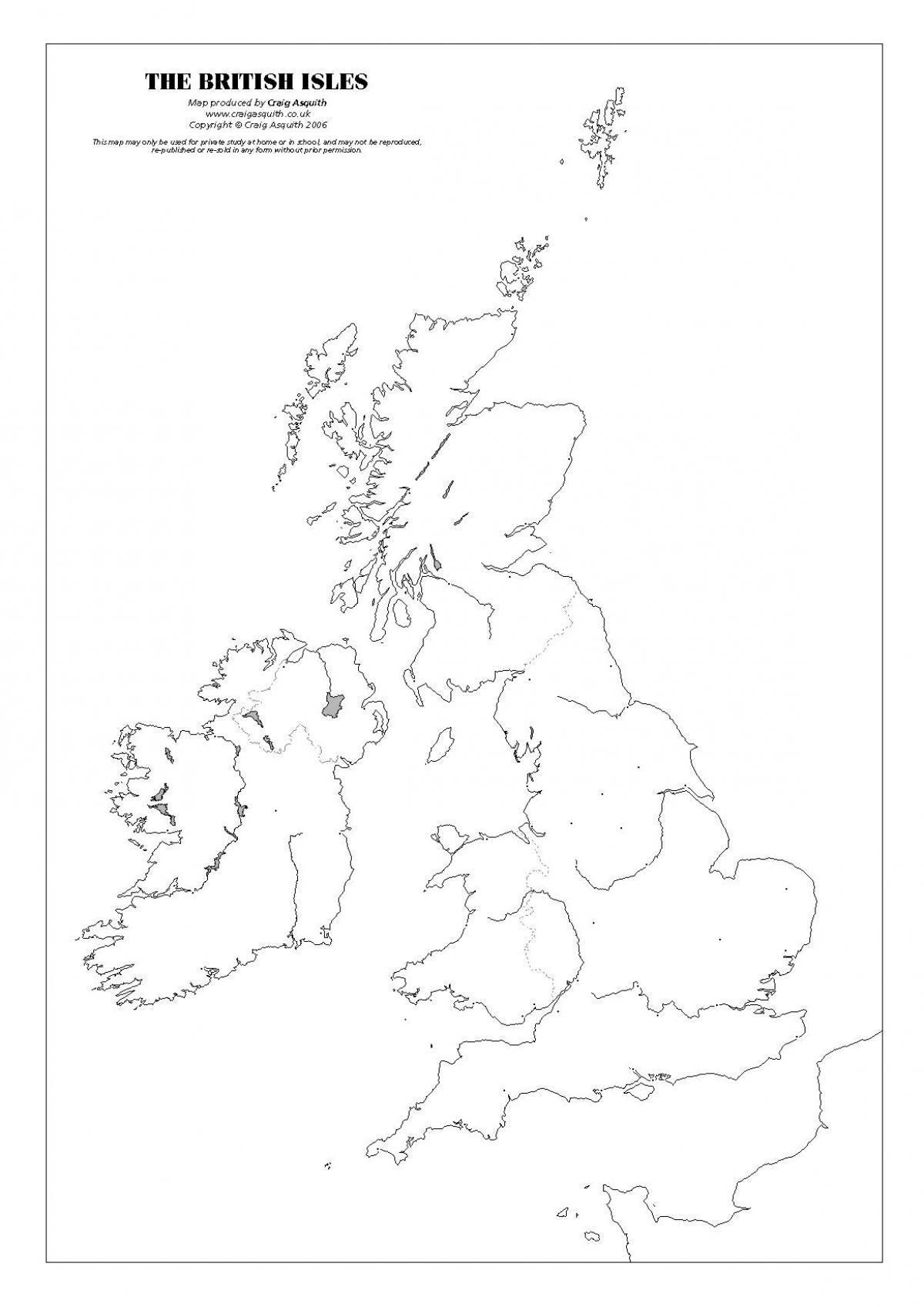 Storbritannien Karta Quiz Storbritannien Monument Karta Norra